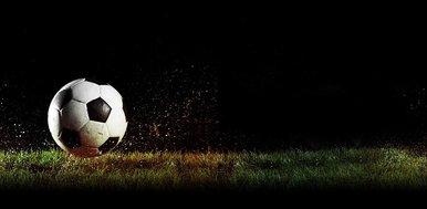 Ball am Spielfeld